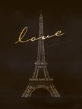 Love Paris - Black and Gold