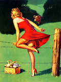 On De-Fence Pin-Up 1940S