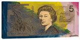 Australian Five Dollar Bill w/ Queen Elizabeth II
