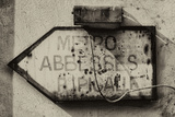 Paris Focus - Old Subway Directional Sign