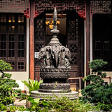China 10MKm2 Collection - Detail Buddhist Temple - Elephant Statue