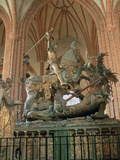 St George and the Dragon Statue  Inside the Storkyrkan Church  Stockholm  Sweden