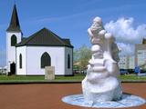 Norwegian Church and Antarctic 100 Memorial  Waterfront Park  Cardiff  Wales