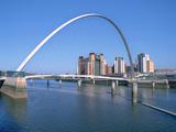Millennium Bridge and Baltic Art Gallery  Gateshead  Tyne and Wear