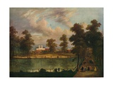 View in St Jamess Park Showing Rosamonds Pond  1840