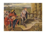 The Musician Sings in the Two Gentlemen of Verona: Act IV Scene II  C1875