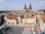 Old Town Square and Tyn Church  Prague  Czech Rebublic