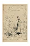 Peasant Burning Weeds  19th Century