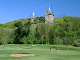Golf Course and Castell Coch  Tongwynlais  Near Cardiff  Wales