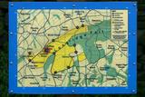 Map of Longridge Fell  Lancashire