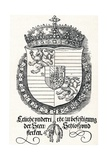 The Coat of Arms of Ferdinand I  King of Hungary and Bohemia  1527