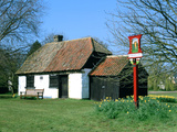 Village Sign and Smithy  Thriplow  Cambridgeshire