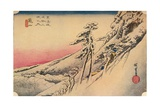Clear Weather after Snow at Kameyama  from 53 Stations of Tokaido  (1832)  1903