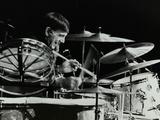 Drummer Louie Bellson Playing at the Forum Theatre  Hatfield  Hertfordshire  1979
