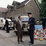 Derbyshire Police Commissioner Taking Delivery of Two New Land Rovers  Matlock  Derbyshire  1969