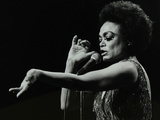 Eartha Kitt Performing at the Forum Theatre  Hatfield  Hertfordshire  20 March 1983