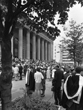 University Graduates Outside Sheffield City Hall  South Yorkshire  1967