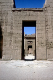 View Through the Pylons  Mortuary Temple of Rameses Iii  Medinat Habu  Luxor  C12th Century Bc