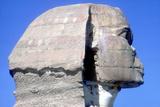 Closeup of Head Ofthe Sphinx  Period of Khafre (Chephren)  4th Dynasty  26th Century Bc