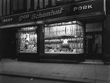 George Schonhuts Butchers Shop in Rotherham  South Yorkshire  1955