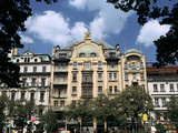 Grand Hotel  Wenceslas Square  Prague  Czech Republic