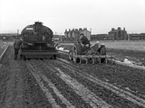 Road Construction Work  Doncaster  South Yorkshire  November 1955