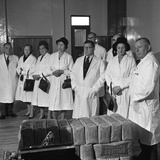Local Dignitaries During an Open Day at Spillers Foods in Gainsborough  Lincolnshire  1962