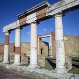 Columns of the Colonnade around the Forum in Pompeii  1st Century