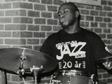 Winston Clifford on Drums at the Fairway  Welwyn Garden City  Hertfordshire  18 February 2001