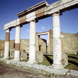 Columns of the Colonnade Round the Forum  Pompeii  Italy