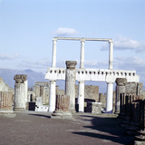 Colomns of the Colonnade Round the Forum  Pompeii  Italy