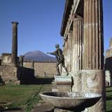 Bronze Statue at Temple of Apollo in Pompeii  1st Century