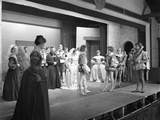 Production of Shakespeares Twelfth Night  Worksop College  Derbyshire  1960