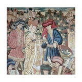 Detail from the Devonshire Hunting Tapestries  15th Century
