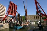 Barge Passing Through St Katherines Lock  London