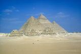 Pyramids of Khufu  Khafre and Mycerinus  Giza  Egypt  C26th Century Bc