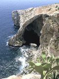 View of Natural Bridge and Boat  Blue Grotto  Malta
