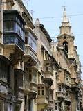 Balconies  St Pauls Street  Valletta  Malta
