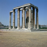 Temple of Olympian Zeus in Athens  2nd Century Bc
