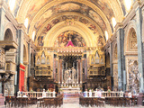 Interior of St Johns Co-Cathedral  Valletta  Malta