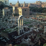 Roman Forum Seen from the Palatine Hill  5th Century Bc