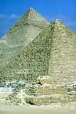 Pyramids of Khafre on Left and of Mycerinus on Right  Giza  Egypt  C26th Century Bc