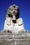 Frontal View of Sphinx from the Avenue of Sphinxes  Temple Sacred to Amun Mut and Khons  Luxor  Egy