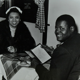 Oscar Peterson Looking Forward to Dinner after a Concert at Colston Hall  Bristol  1955