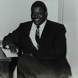 Oscar Peterson in the Green Room at Colston Hall  Bristol  1955