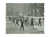 Firemen Carrying Out Scaling Ladder Drill  London Fire Brigade Headquarters  1910