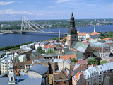 The View from St Peters Spire  Riga  Latvia