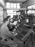 Monotype Keyboards in Operation at a Printing Company  Mexborough  South Yorkshire  1959
