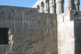 Relief of the Pharaoh Smiting His Enemies  Temple Sacred to Amun  Mut and Khons  Luxor  Egypt