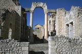 Distant Roman Capitol of Dougga Seen Through an Arch  2nd Century
